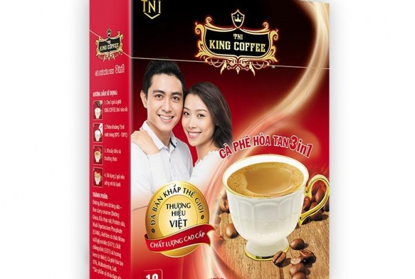 King Coffee 3-1 Instant Coffee Box of 10 (160g)