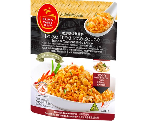 Laksa Fried Rice Sauce (Spice & Coconut Stir-Fry Sauce) 80g